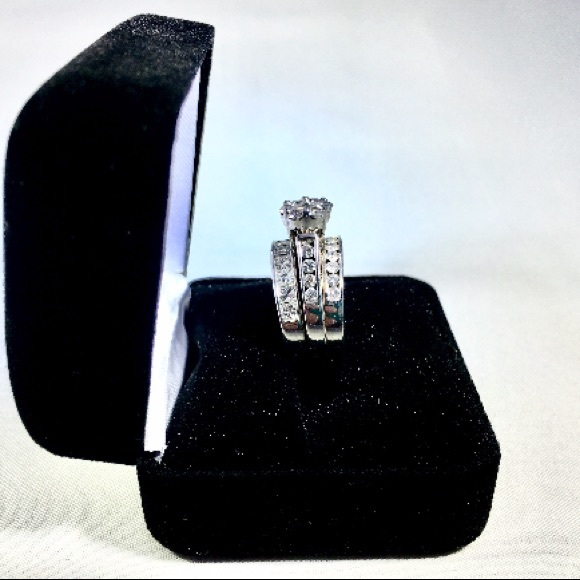 Kay Jewelers Jewelry 14kt 3ring Diamond White Gold Wedding Ring Set Poshmark